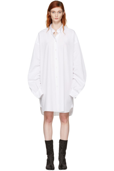 Maison Margiela - White Oversized Shirt Dress