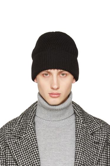 Maison Margiela - Black Rib Knit Beanie