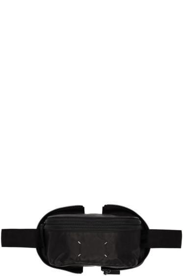 Maison Margiela - ブラック レザー ベルト ポーチ