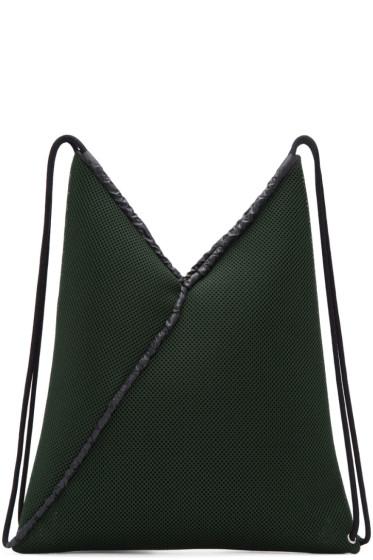 MM6 Maison Margiela - Green Mesh Drawstring Backpack