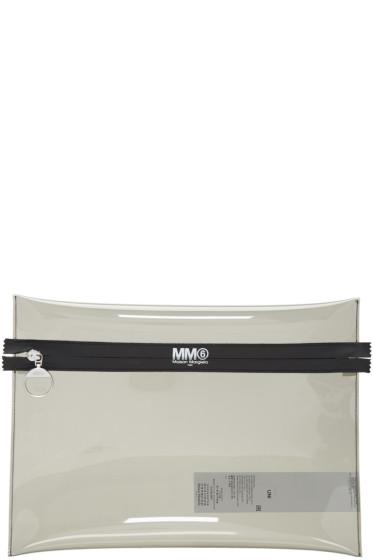MM6 Maison Margiela - Grey PVC Pouch