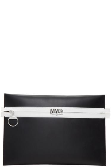 MM6 Maison Margiela - Black Plein Reclaimed Pouch