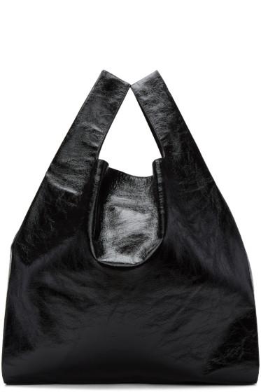 MM6 Maison Margiela - Black Patent Shopping Tote
