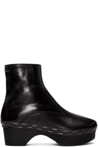 MM6 Maison Margiela - Black Clog Boots