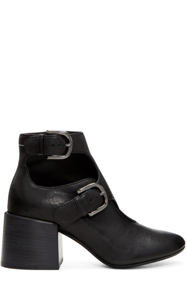 MM6 Maison Margiela - Black Cut-Out Boots