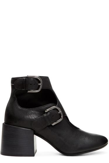 MM6 Maison Margiela - Black Cut-Out Boots