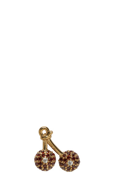 Marc Jacobs - Gold Cherry Something Special Earring