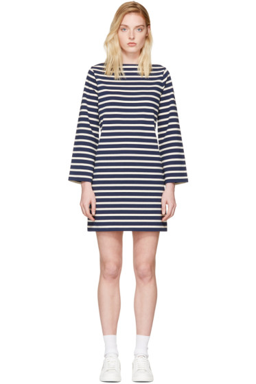Marc Jacobs - Navy & Ecru Breton Stripe Dress