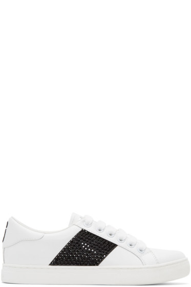 Marc Jacobs - White & Black Empire Strass Sneakers