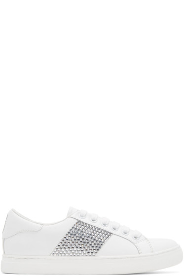 Marc Jacobs - White & Silver Empire Strass Sneakers