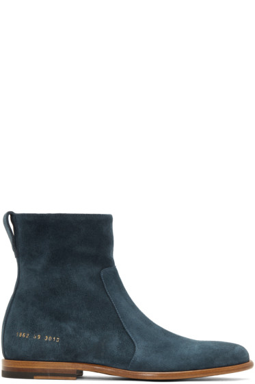 Robert Geller - Blue Common Projects Edition Chelsea Boots