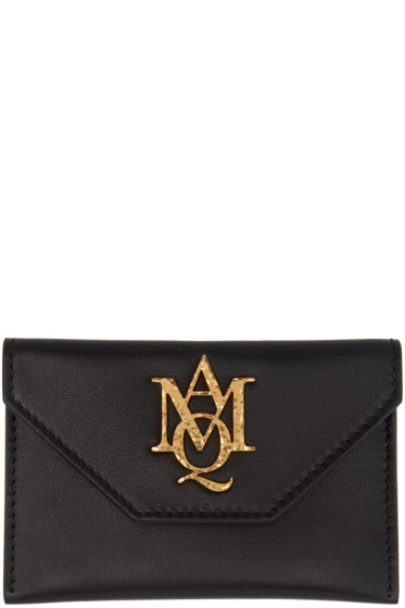 Alexander McQueen - Black Insignia Envelope Card Holder