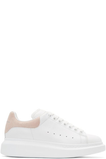 Alexander McQueen - White & Pink Oversized Sneakers
