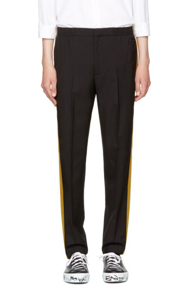 Alexander McQueen - Black Satin Side Band Trousers