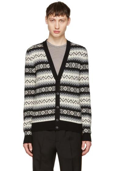 Alexander McQueen - Black & Beige Cashmere Cardigan