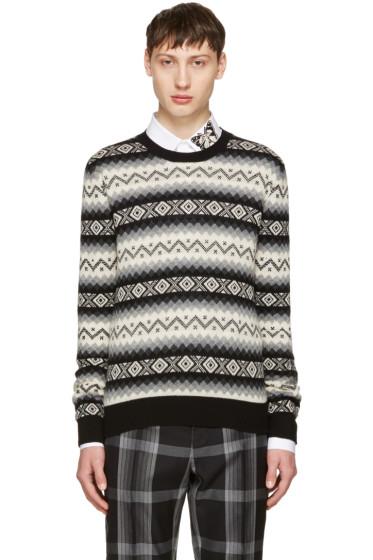 Alexander McQueen - Black & Beige Cashmere Sweater