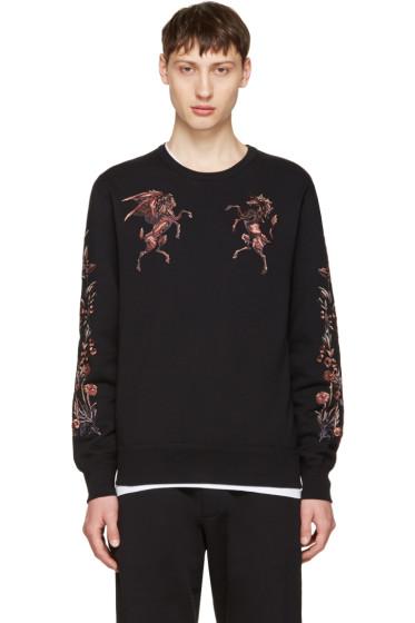 Alexander McQueen - Black Embroidered Sweatshirt