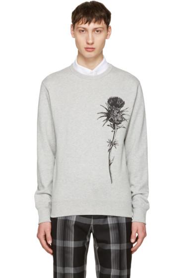 Alexander McQueen - Grey Thistle Sweatshirt