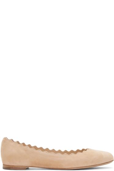 Chloé - Tan Suede Lauren Ballerina Flats