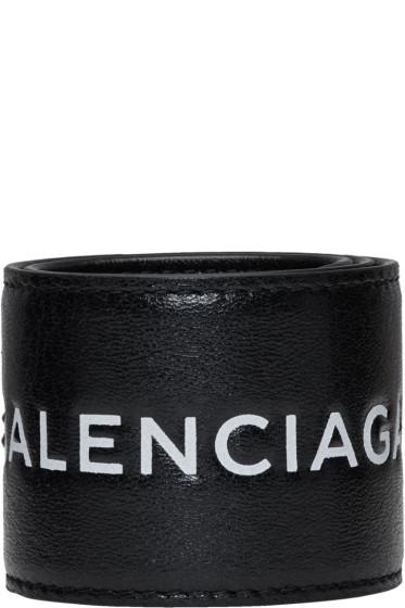 Balenciaga - Black Cycle Logo Bracelet