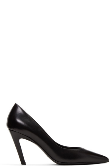 Balenciaga - Black 'Slash Heel' Heels