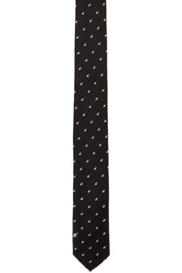 Neil Barrett - Black Irregular Stars Skinny Tie