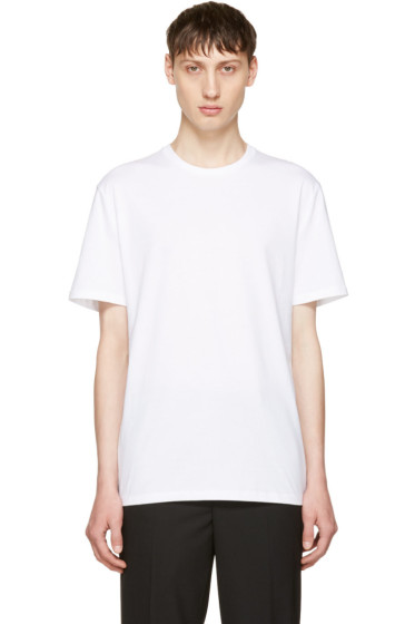 Neil Barrett - White '#neilbarrett' T-Shirt