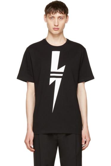 Neil Barrett - Black & White Thunderbolt T-Shirt