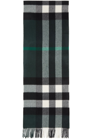 Burberry - Green Large Classic Cashmere Check Scarf