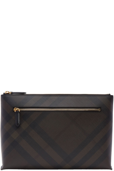 Burberry - Brown Duncan London Check Pouch