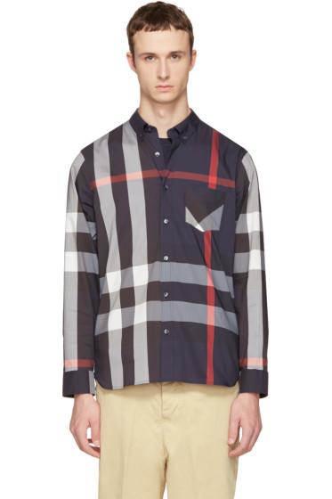 Burberry - Navy Check Thornaby Shirt