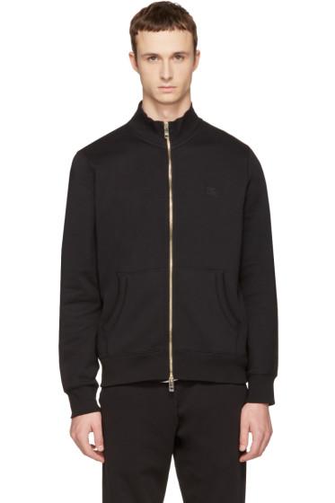 Burberry - Black Sheltone Zip-Up Sweater