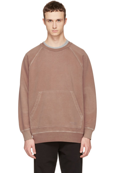 Burberry - Pink Oversized Garment-Dyed Sweatshirt