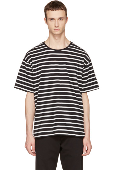 Burberry - Black & White Striped T-Shirt