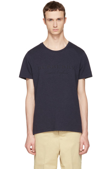 Burberry - Navy Martford Logo T-Shirt