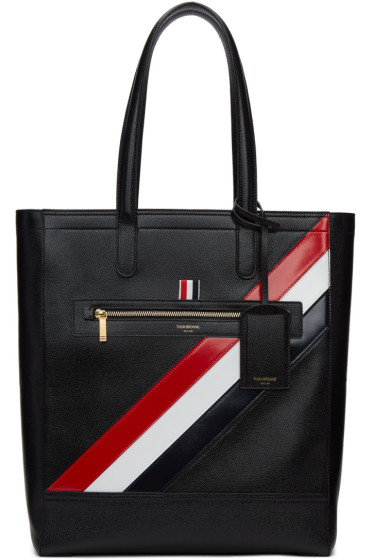 Thom Browne - Black Stripe Tote Bag