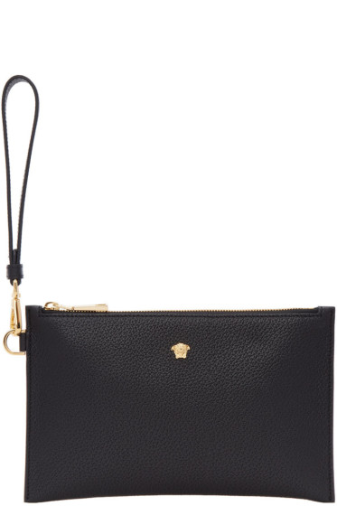 Versace - Black Small Leather Medusa Pouch