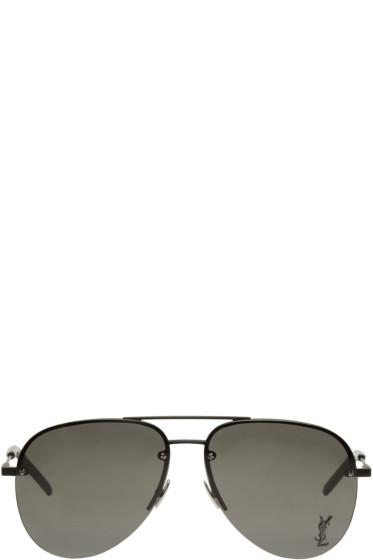 Saint Laurent - Black Monogram M11 Aviator Sunglasses