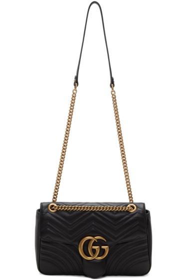 Gucci - Black Medium GG Marmont 2.0 Bag