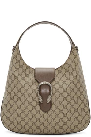 Gucci - Beige GG Supreme Dionysus Hobo Bag