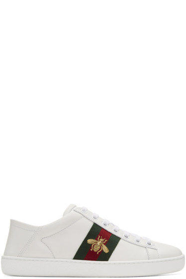 Gucci - White Bee Ace Sneakers