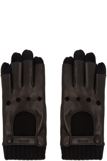 Gucci - Black Layered Driving Gloves