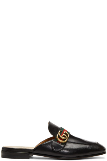 Gucci - Black GG Princetown Slippers