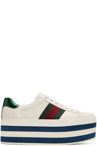 Gucci - White Ace Platform Sneakers