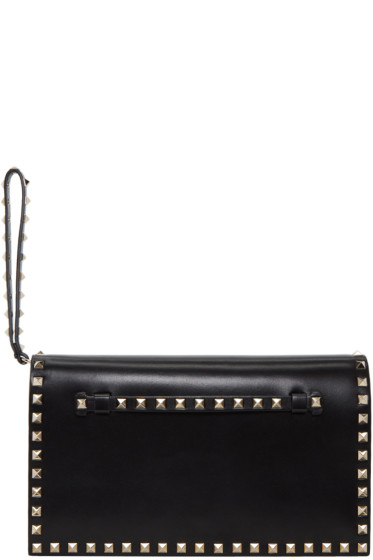 Valentino - Black Small Rockstud Clutch