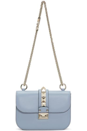 Valentino - Blue Small Rockstud Lock Bag