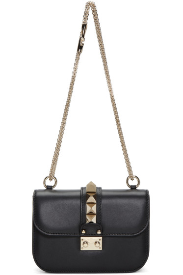 Valentino - Black Small Rockstud Lock Bag