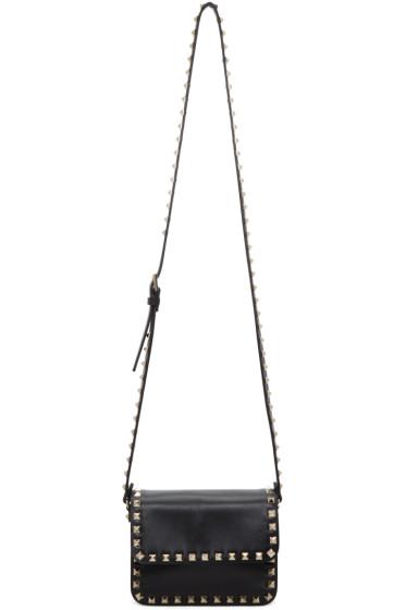 Valentino - Black Mini Rockstud Flap Bag