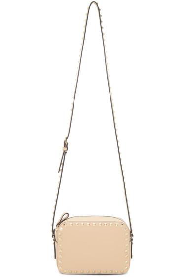 Valentino - Beige Rockstud Camera Bag