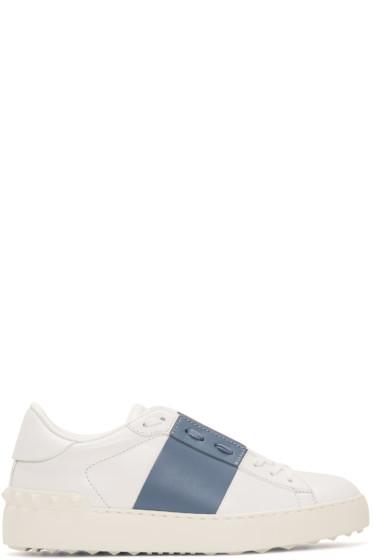 Valentino - White & Blue Open Sneakers